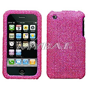 MyBat Apple iPhone 3G / iPhone 3GS Diamante Protector Cover - Hot Pink