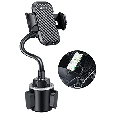 VICSEED Upgraded Ultra Stable Cup Holder Phone Mount Cup Phone Holder for Car Universal Phone Cup Mount Fit for iPhone SE 11 Pro Max Xs Xr X 9 8 7Plus, Galaxy Note10 S20+ S10+ S9 Google LG All Phone