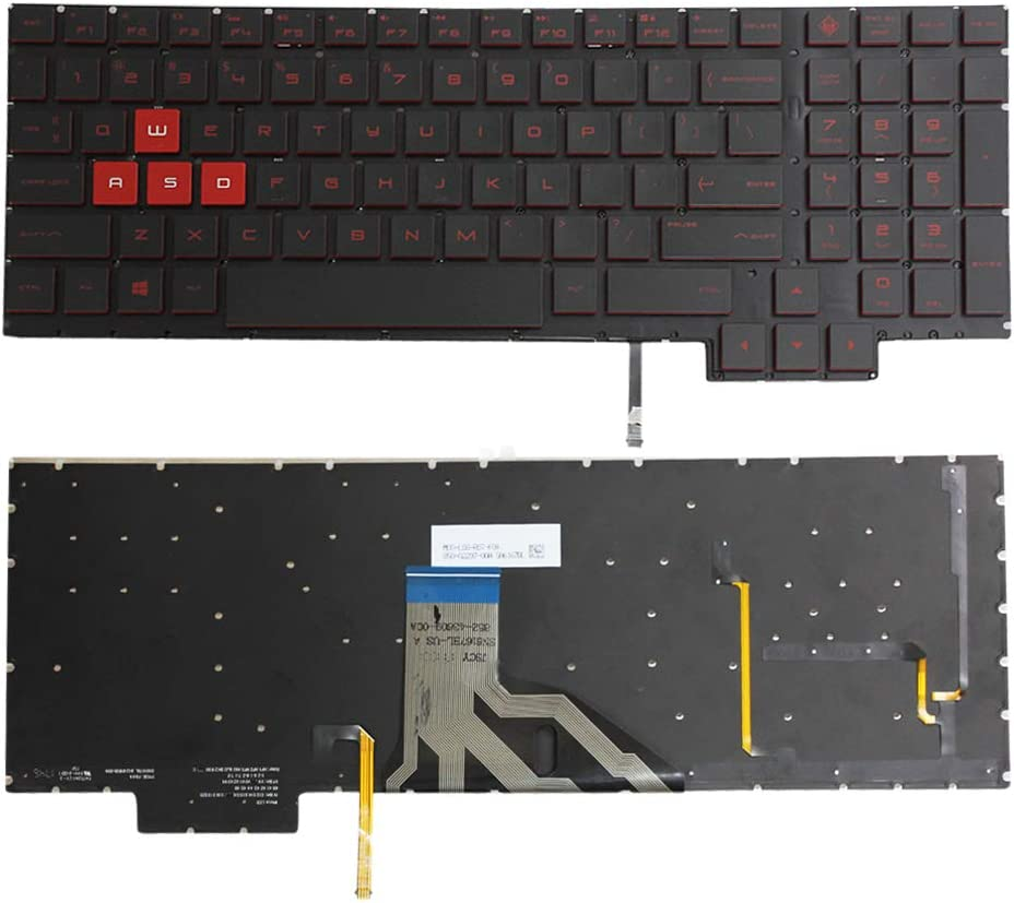 Zahara Laptop US Backlit Keyboard Replacement for HP Omen 15-CE 15-CE000 Series 15-CE011DX 15-CE015DX 15-CE018DX 15-CE019DX 15-CE010CA 15-CE020CA