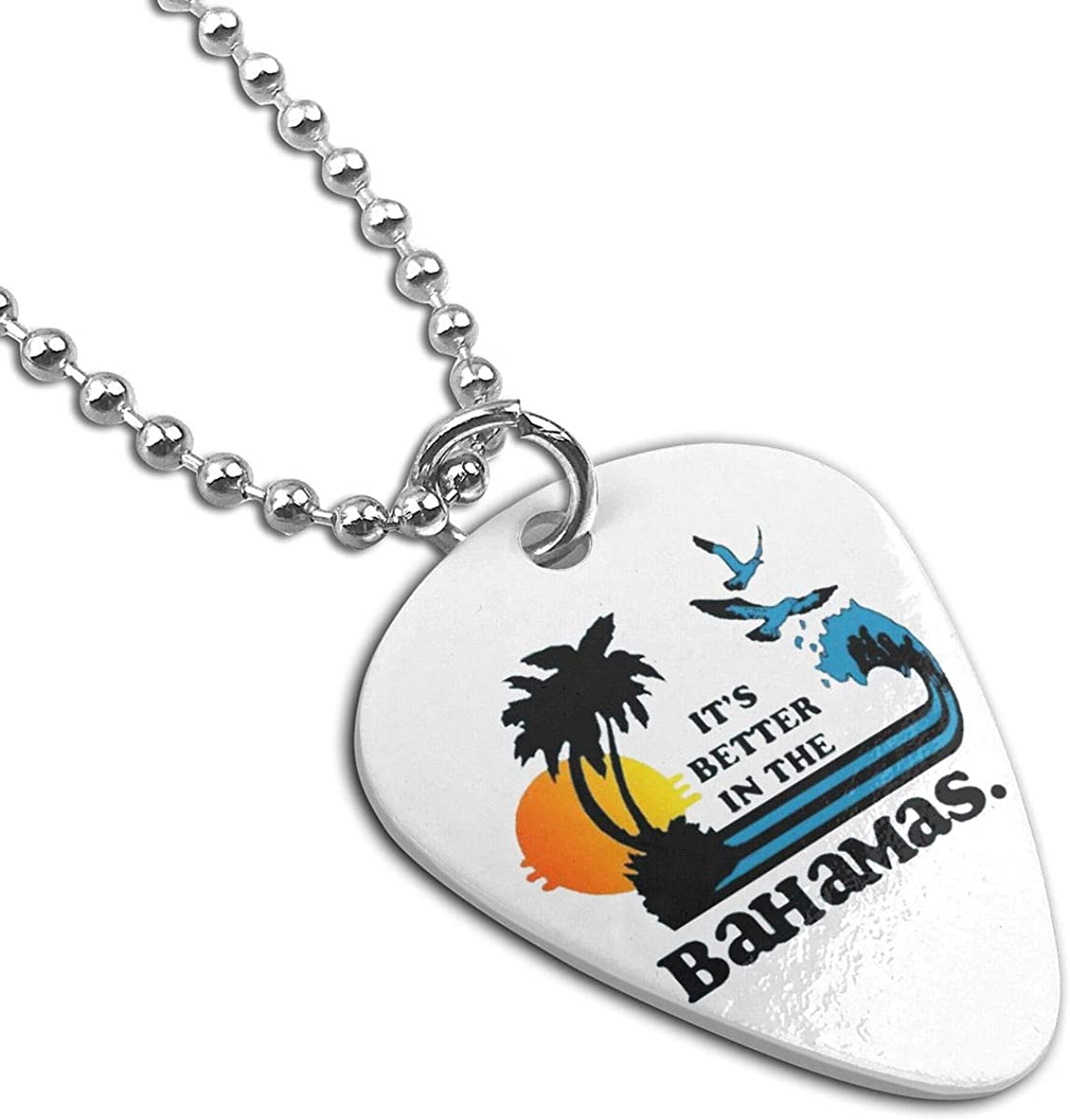 Its Better In The Bahamas Custom Guitar Pick Pendant Necklace Keychain