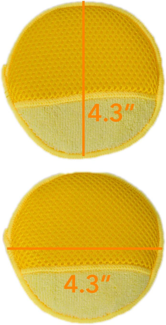 Imperial Home Auto Applicator Foam Pad – Car Wax Applicator Pad - Car Scratch Remover & Car Buffer Foam Pads – Multipurpose Car Wash Sponge 10 - Pack