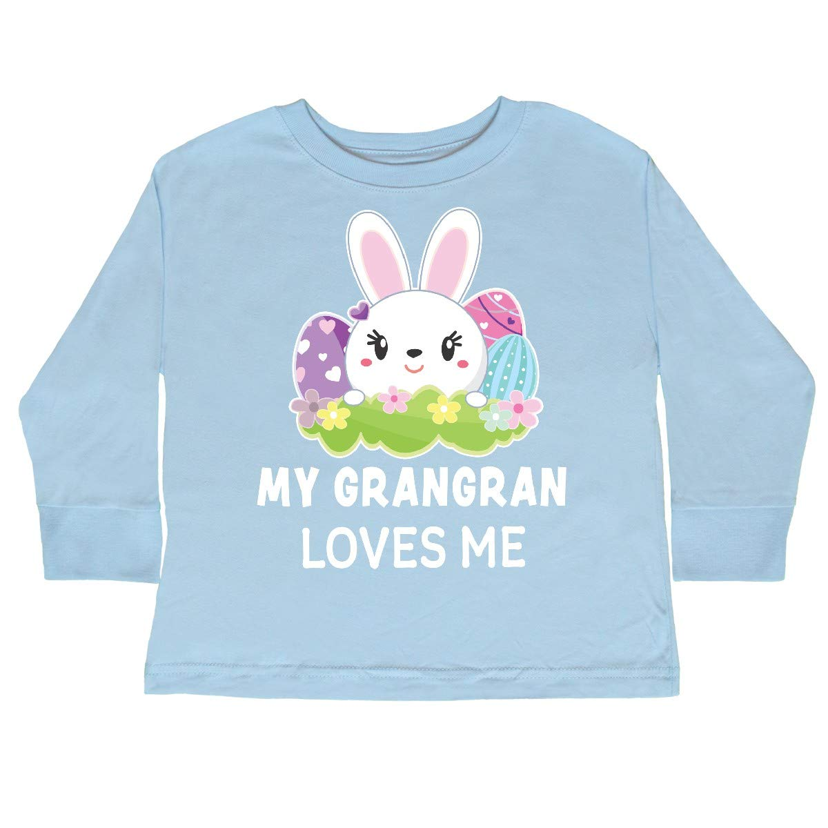 inktastic My Grangran Loves Me with Bunny and Easter Toddler Long Sleeve T-Shirt