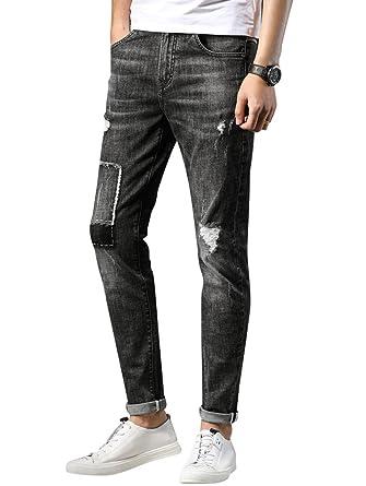Jeans Hommes Jeunes Mode Dexinx Casual Plein Slim Populaire En Air PZiuOkXT