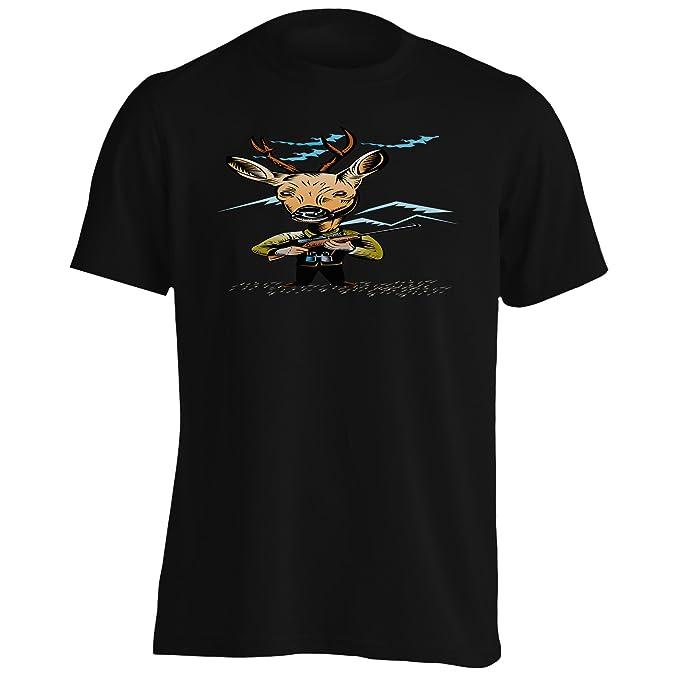 INNOGLEN Ciervo Nuevo con Rifle De Caza Camiseta de los Hombres ...