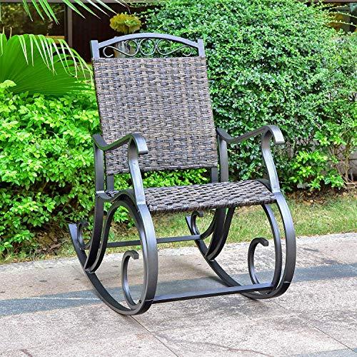 International CaravanInternational Caravan Ibiza Resin Pandan Aluminum Rocking Chair