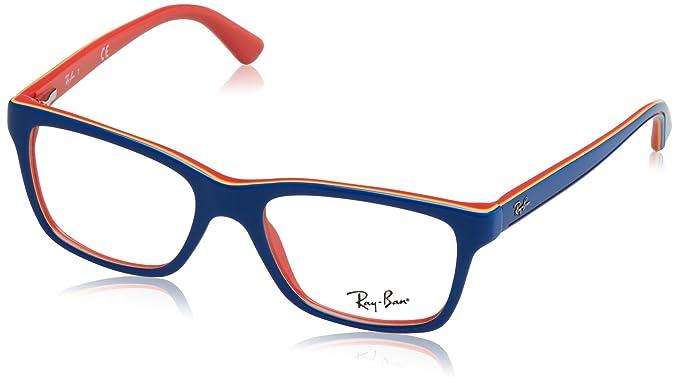 deb61e0100 Rayban Unisex Acetate Blue Orange Rectangle Full Rim Frame (Rayban ...