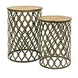 Maridell Nesting Tables, Set of 2, Gold