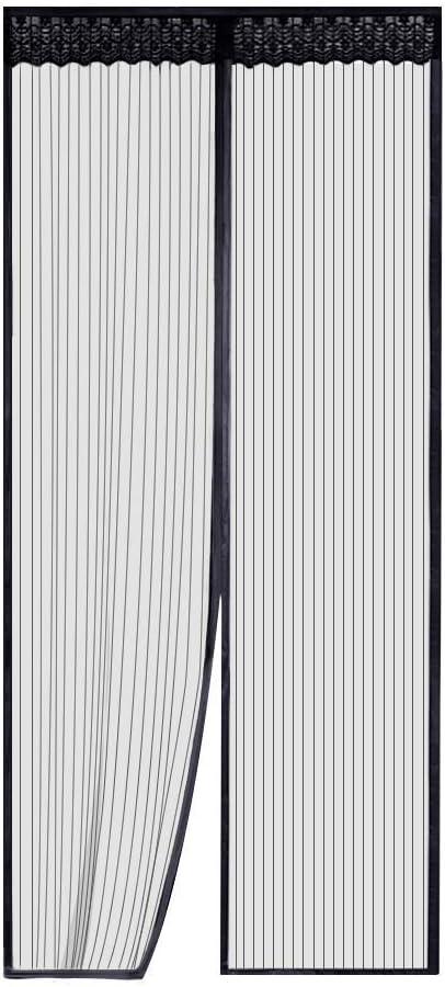 Blanc Rideau Anti Mouche Rideau Anti Mouche Rideau Anti Mouche Velcro pour Porte d Entr/ée Int/érieur//Patio 31x87inch Aibingbao Magn/éTique Moustiquaire 80x220cm