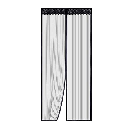 Rabbitgoo Magnetic Fly Screen Door Mesh Bug Proof Curtain with Lace ...