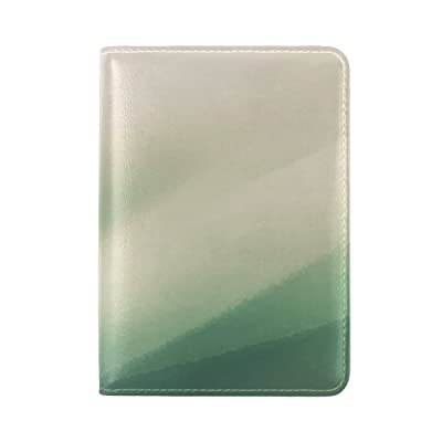 hot sale Line Shape Light Faded Stain Leather Passport Holder Cover Case Travel One Pocket