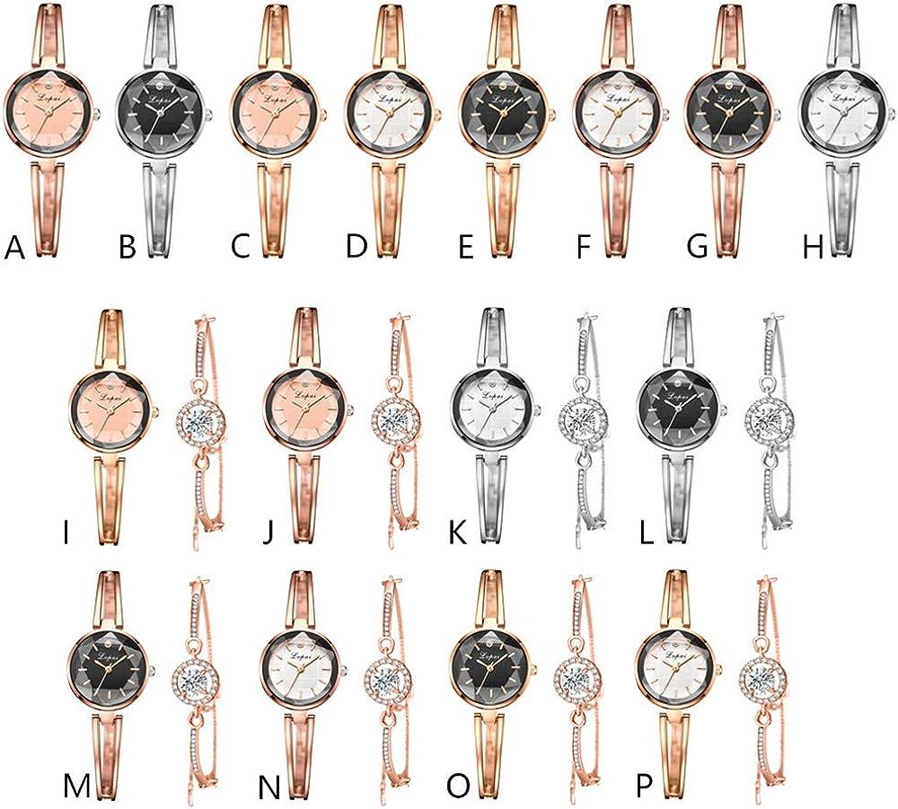 Montre Chrono Montre pour Femme Nouveau Dames tempérament Bracelet Montre Bracelet Ensemble Deux pièces Dames Montre à Quartz Montre de Mode Femmes Argent1