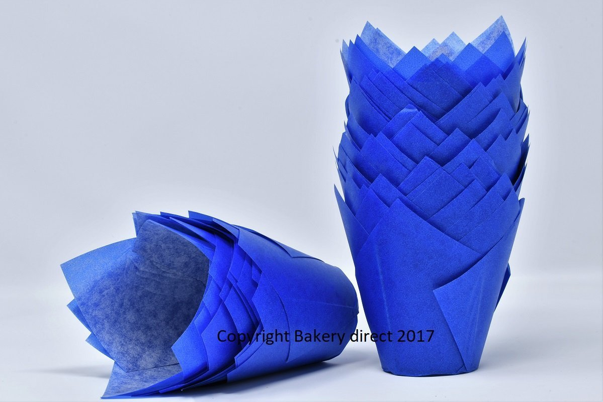 50/St/ück Blaue Muffinformen in Tulpenform