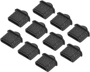 uxcell 10pcs Micro HDMI Silicone Protectors Male Port Anti Dust Cap Cover Black