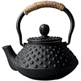 Hwagui Chinese Cast Iron Teapots for Stove Top Tea kettle with Stainless Steel Infuser for Loose Leaf 300ml/10oz