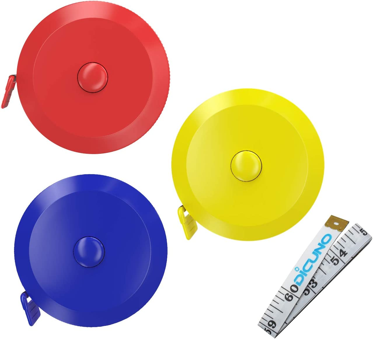 Tape Measure Measuring Tape 1.5m//60inch Black Tape Measures Dual Sided Retractable Tools Automatic ABS Flexible Mini Sewing Measuring Tape