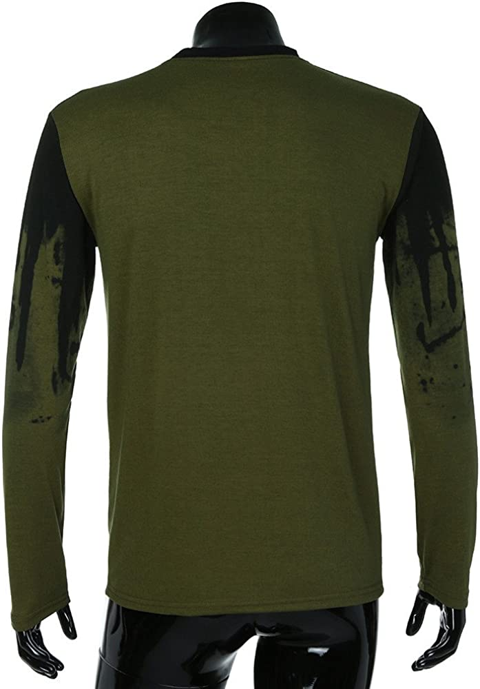 Fxbar,Mens Sweatshirt Fashion Slim Fit Sport Outwear 3D Printed Jumper