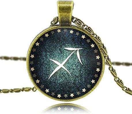 MESE London Sagitario Horóscopo Collar Signos del Zodiaco The Omen en Caja de Regalo Elegante: Amazon.es: Joyería