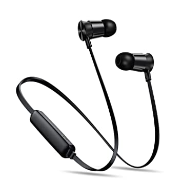 Neckband Wireless Bluetooth Headphone Earphone Sports Headset Stereo Earbuds Earpiece,Black