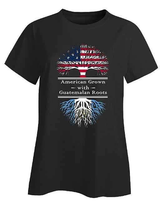American aumentado con raíces guatemalteca Guatemala regalo - Camiseta para mujer: Amazon.es: Ropa y accesorios