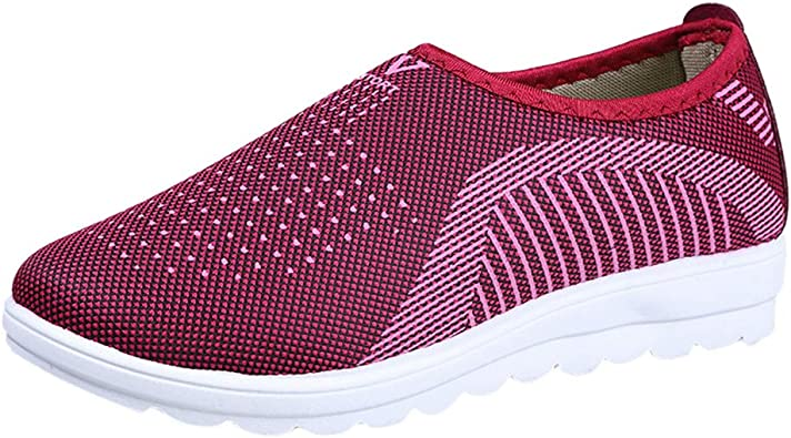 Zapatillas Running Mujer,YiYLunneo Mujer Transpirable Sneakers ...