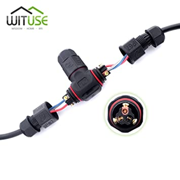amazon com ip67 waterproof electrical cable wire 3 way connector rh amazon com Waterproof Electrical Connectors Automotive Toyota Electrical Connectors