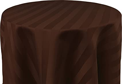 Bright Settings 60 x 144 Inch OVAL Tablecloth Polystripe - ULTRA WIDE Espresso & Amazon.com: Bright Settings 60 x 144 Inch OVAL Tablecloth ...