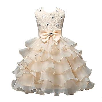 Oyedens Bambine Principessa Abiti Eleganti Bambina Swing Vestiti Bambini  Vestito  Amazon.it  Abbigliamento f3959598c96