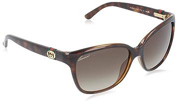 932072024ad5 Amazon.com  Gucci Sunglasses - 3645   Frame  Havana Lens  Brown ...
