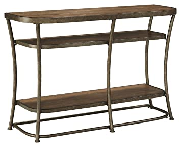 vintage sofa table. Ashley Furniture Signature Design - Nartina Sofa Table 4 Fixed Shelves Rustic Pine Vintage
