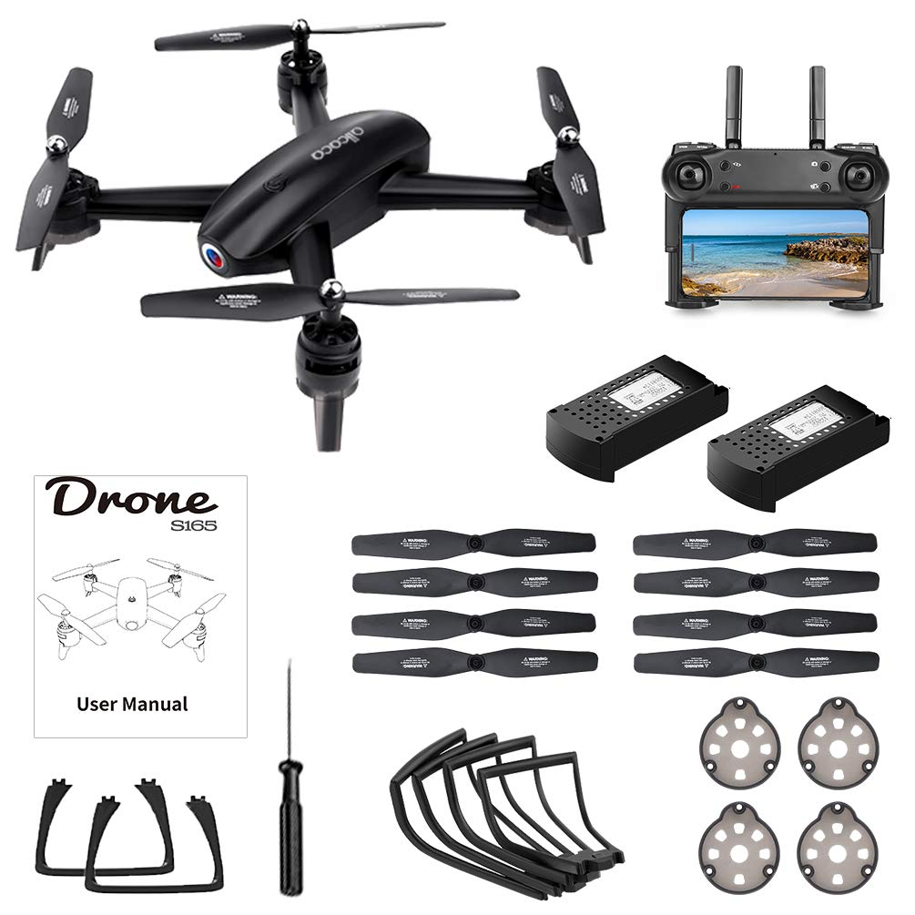 ALLCACA FPV RC Drone with Dual 720P HD Camera Live Video, Gesture Control WiFi Quadcopter with 3D Flips, GPS Return Home, Headless Mode, Gravity Sensor, Altitude Hold for Kids Beginners, Black by allcaca (Image #6)