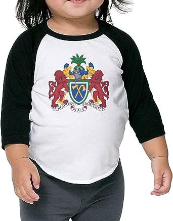 Amazon.com: Coat of Arms The Gambia Kids Raglan T Shirts