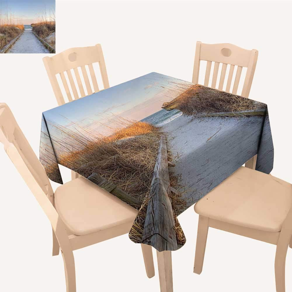 UHOO2018 Decorative Tablecloth Sunset sea Oats The Coast Myrtle Beach State Park Myrtle Beach South Square/Rectangle Kitchen Tablecloth Picnic Cloth,50x 50inch