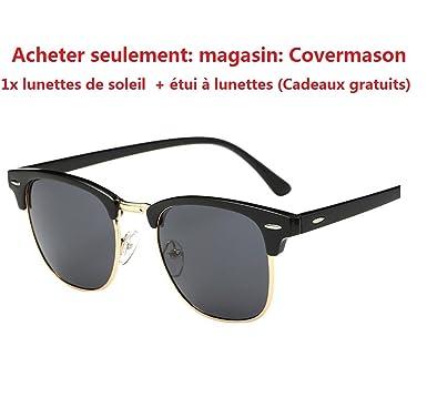Lunettes De Soleil Covermason Hommes femmes carré Vintage en miroir lunettes de soleil lunettes Outdoor Lunettes de sport (B) U9hwRM