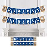 Big Dot of Happiness Ramadan Mubarak - Bunting Banner - Party Decorations - Ramadan Mubarak