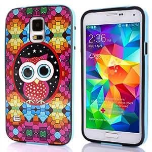 Sannysis 1PC Super Cute Owl TPU Back Case Cover for Samsung Galaxy S5 i9600 G900 (A)