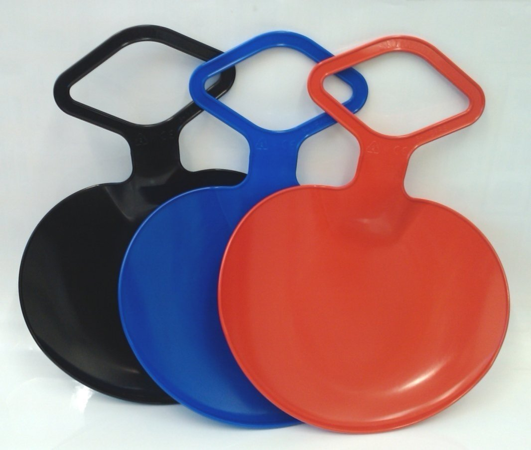 Marko Plastic Snow Skimmer Bum Sledge with Handle Red Blue Green Green