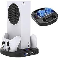 TwiHill Suporte de carregamento vertical para controladores Xbox Series S com ventilador de resfriamento, estação de…