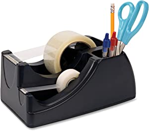 "Officemate Recycled 2-in-1 Heavy Duty Tape Dispenser, 1"" and 3"" Cores, Black (96690)"