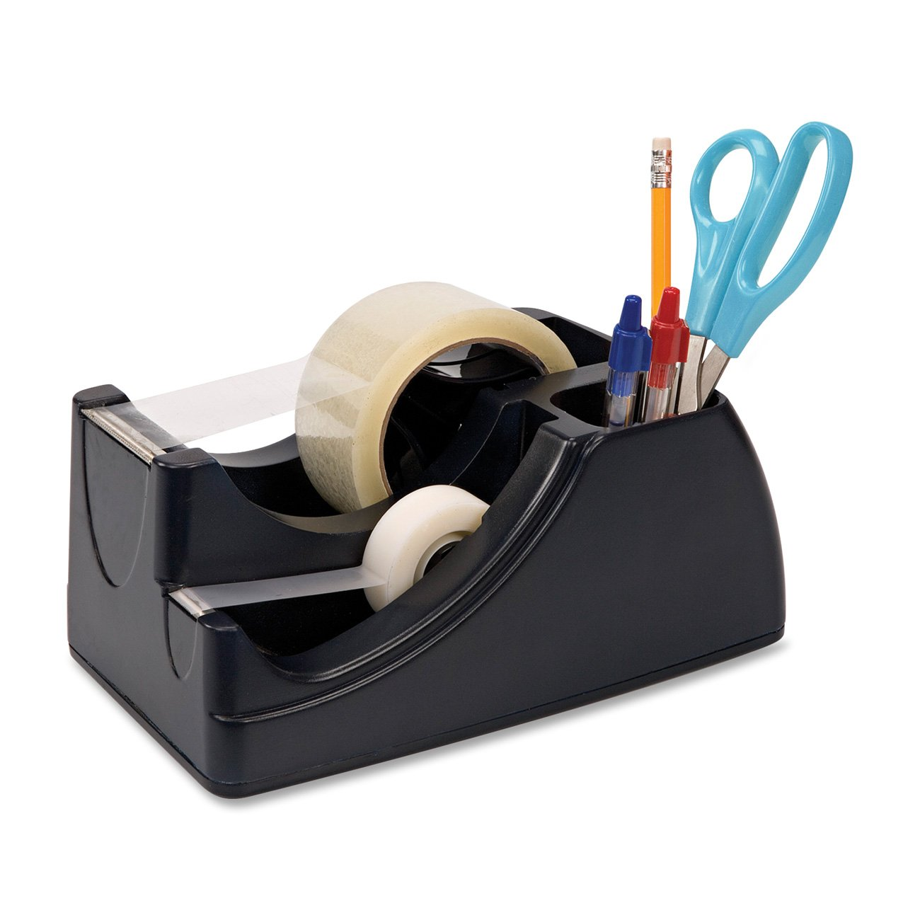 Officemate International Corp OIC96690 Heavy-Duty Tape Dispenser- Holds 2in. Roll and .75in. Roll- Black B001A3Y32C  2 In