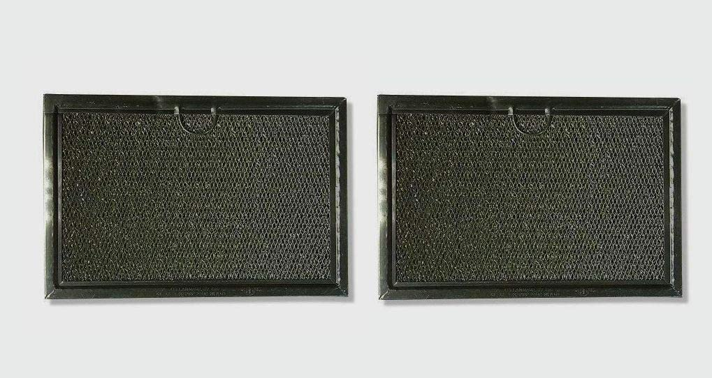 """2 pcs WB06X10608 Aluminum Microwave Grease Filters for GE AFF77-M 5"""" x 7-5/8"""" x 3/32"""""""
