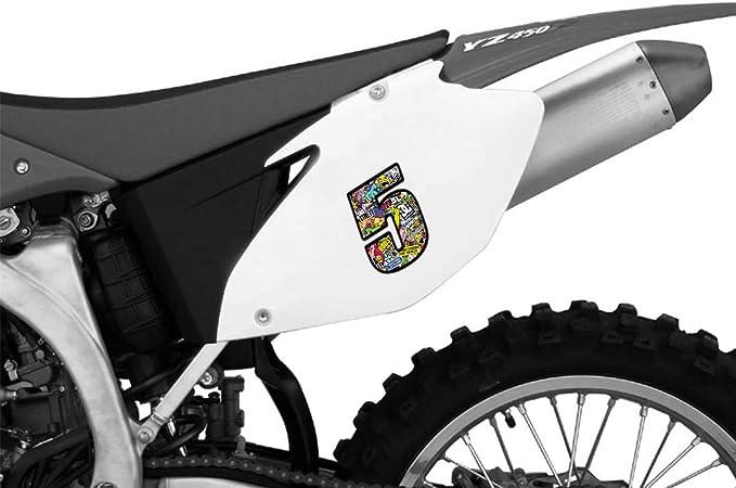 Biomar Labs Adesivo Sticker Numero Racing 5 Gara DC Sticker Bomb Auto Moto Cross Rally Sport Tuning N 205