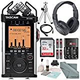Tascam DR-44WL Portable Handheld Recorder with Wi-Fi and Deluxe Accessory Bundle