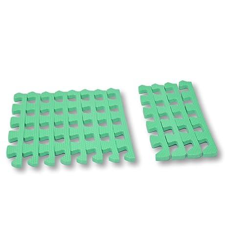2825d72f585 Bordes rectos para alfombra de goma EVA. 12 piezas. Verde.  Amazon ...