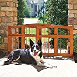 Cheap Indoor Outdoor Premium Eucalyptus Wood Natural Finish Sliding Adjustable Pet Gate Barrier