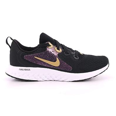 1bfd174c29f3 Nike Kids  Grade School Legend React Running Shoes (Black Gold