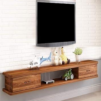 Mueble TV de Pared Estante de la Pared Estante Flotante con Cajon ...