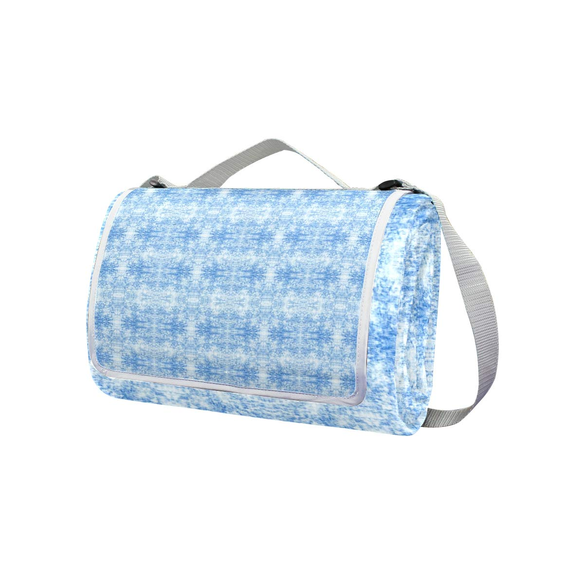 LOIGEIDQ Picnic mat Rchambray Light Waterproof Outdoor Picnic Blanket, Sandproof and Waterproof Picnic Blanket Tote for Camping Hiking Grass Travelling DualLayers by LOIGEIDQ (Image #2)