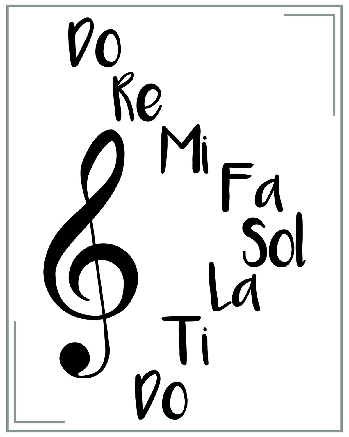 Amazon Com Do Re Mi Wall Decor Art Print 8x10 Unframed Music Themed Print On A White Background Great Gift For Musicians And Music Lovers Handmade
