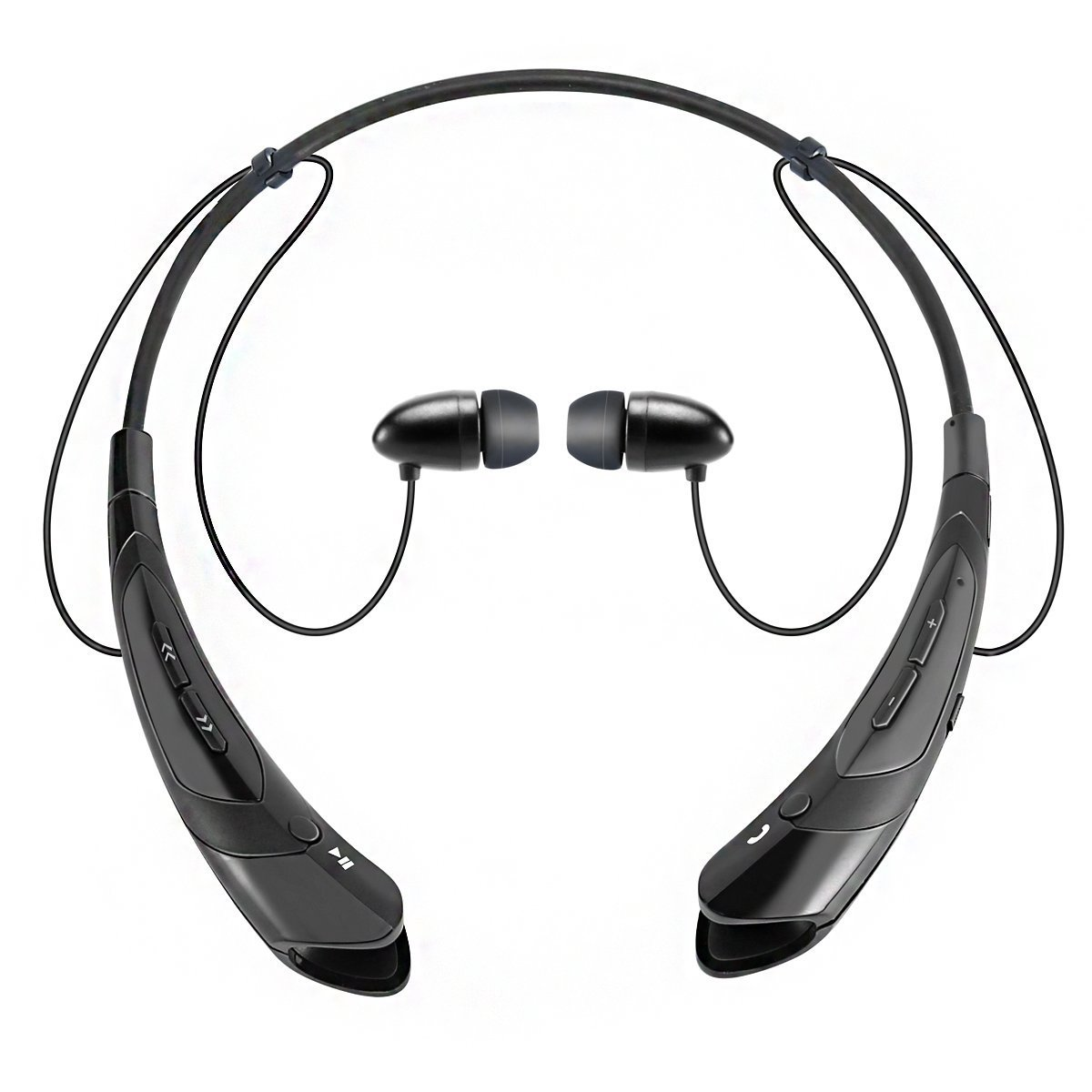 Sport Neckband Style Magnetic Earbuds with Mic for iPhone Series and Android Phones Silver Bluetooth Earphone Headphones,V4.1 Stereo Noise Cancelling Wireless Headset