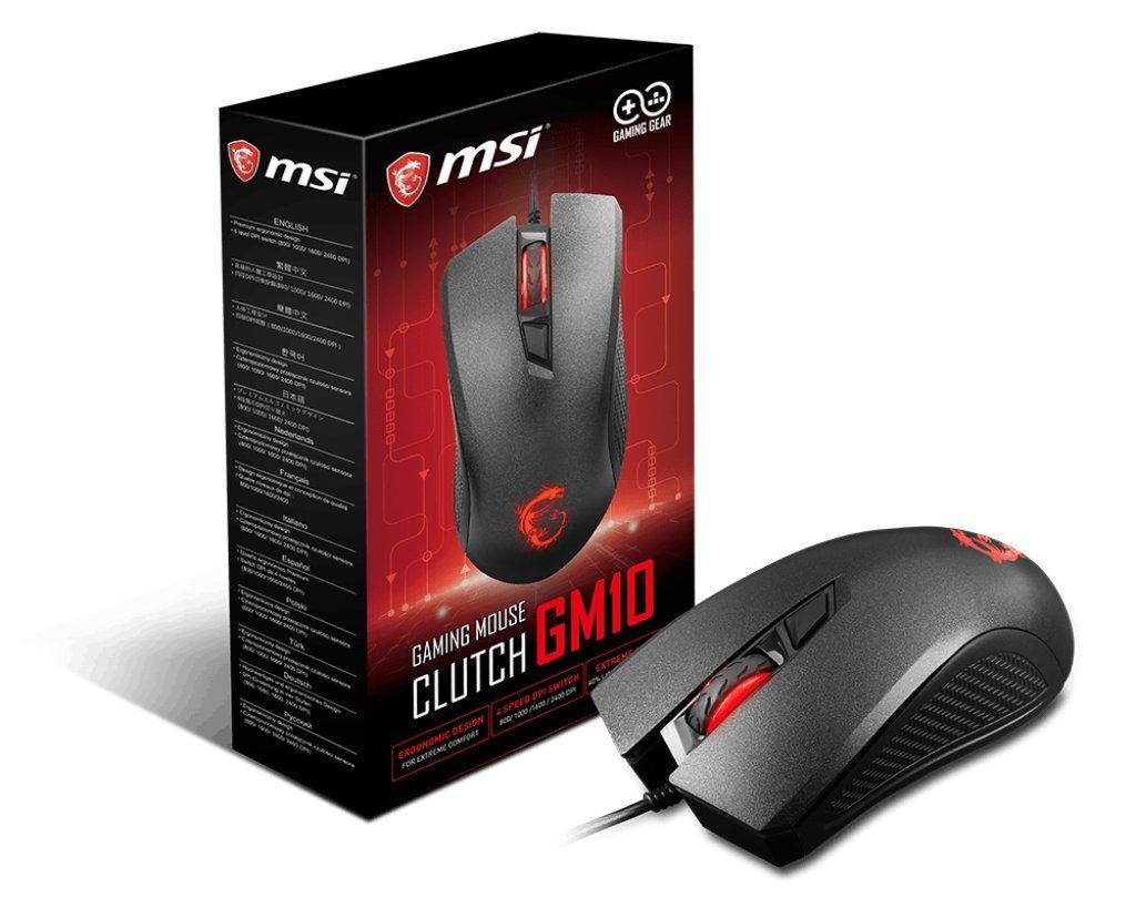 131c024a930 Amazon.com: MSI Clutch GM10 USB Adjustable DPI Ergonomic Design Gaming  Grade Optical Mouse: Computers & Accessories